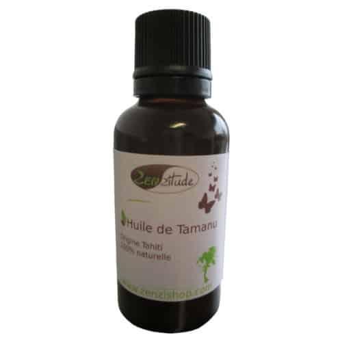 bouteille d'huile de tamanu