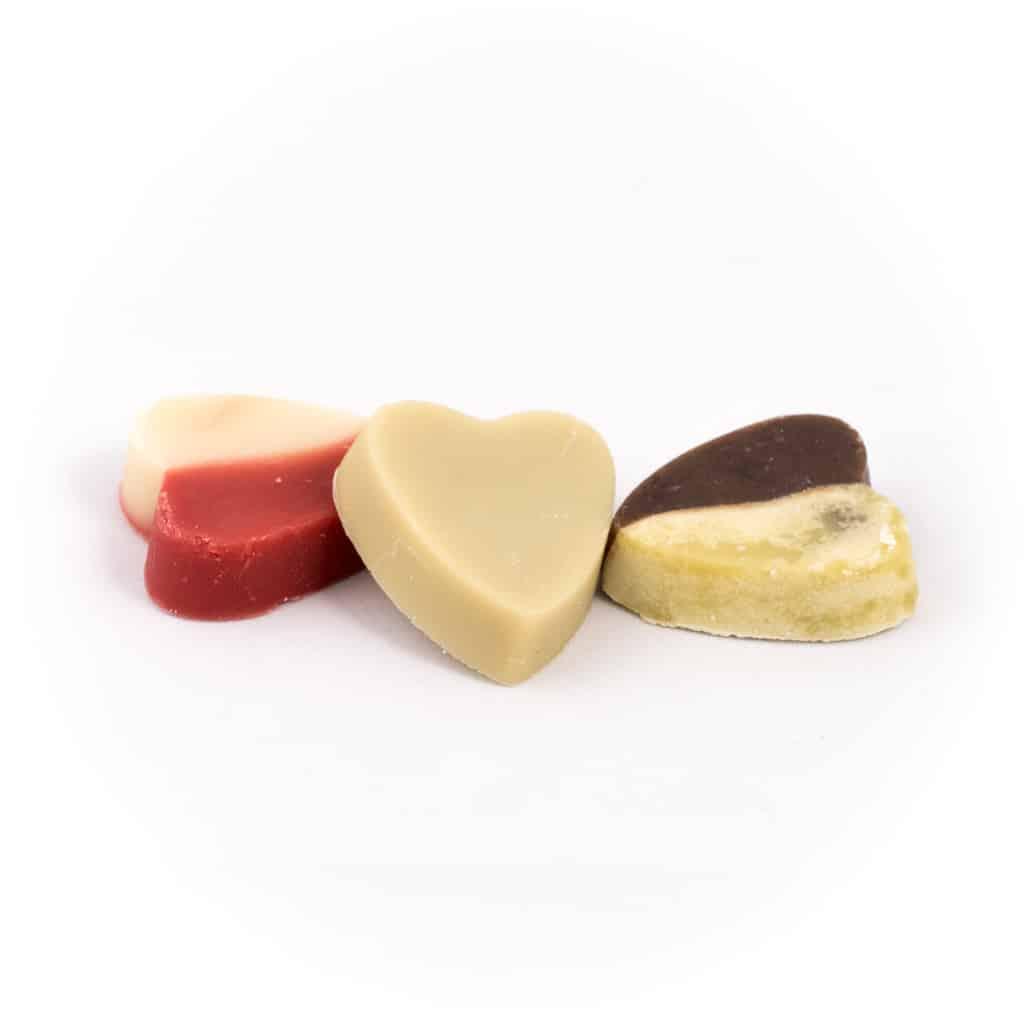 lot 9 mini savons coeur