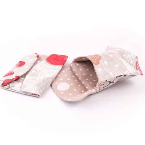 pochette artisanale en tissu