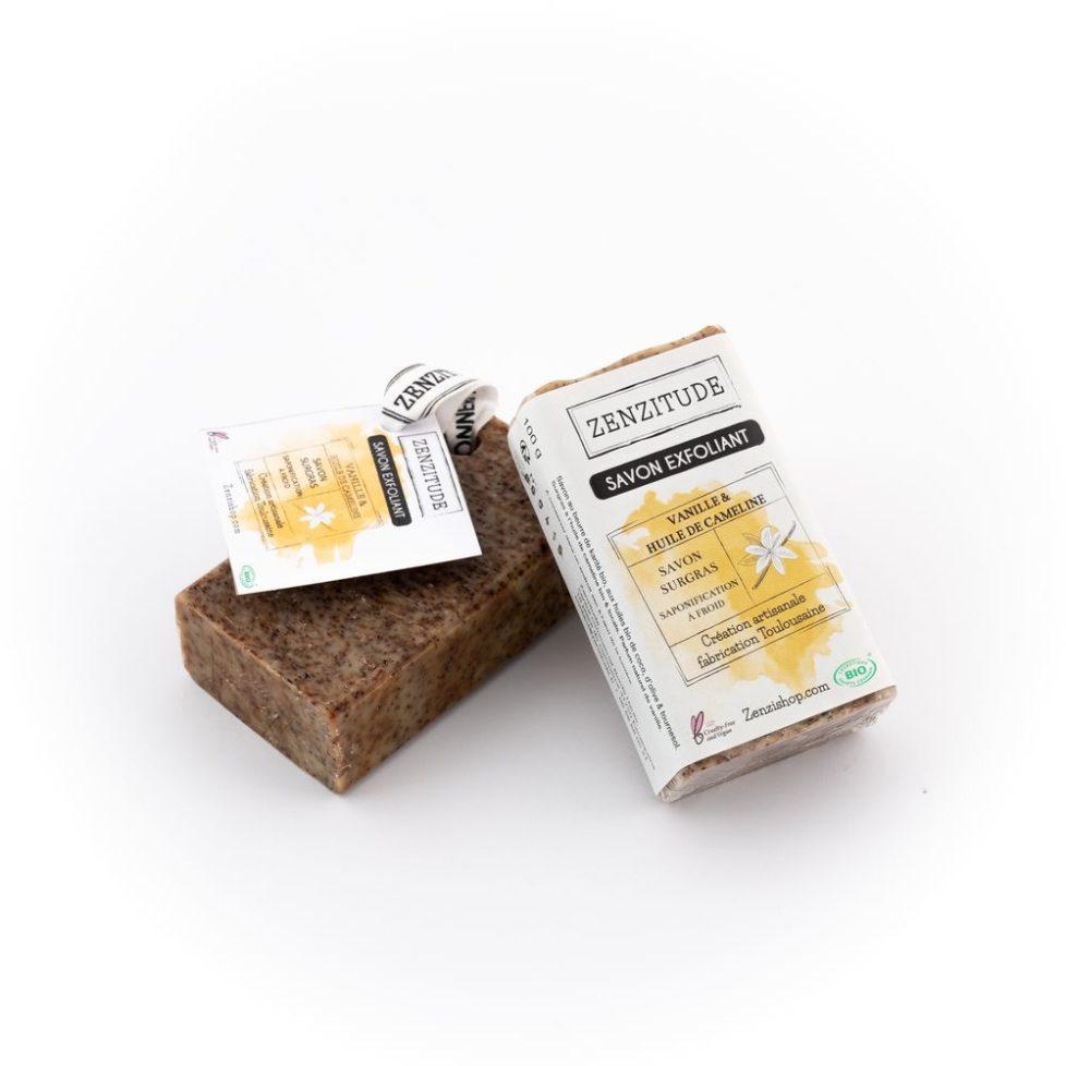 savon exfoliant vanille bio